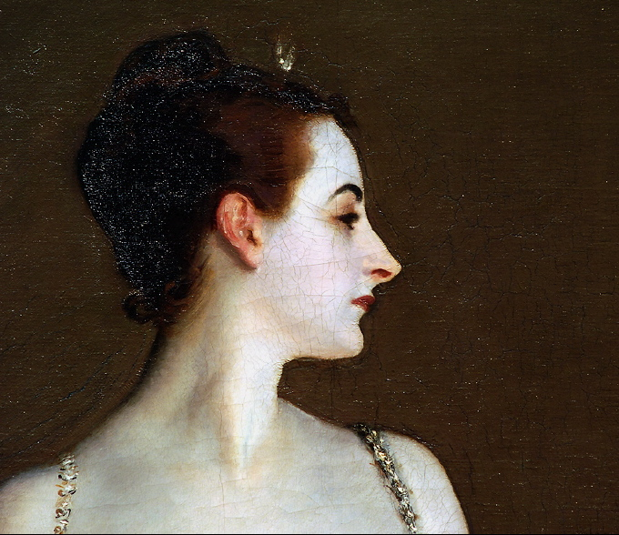John singer sargent. madame x (aka madame pierre gautreau). detail