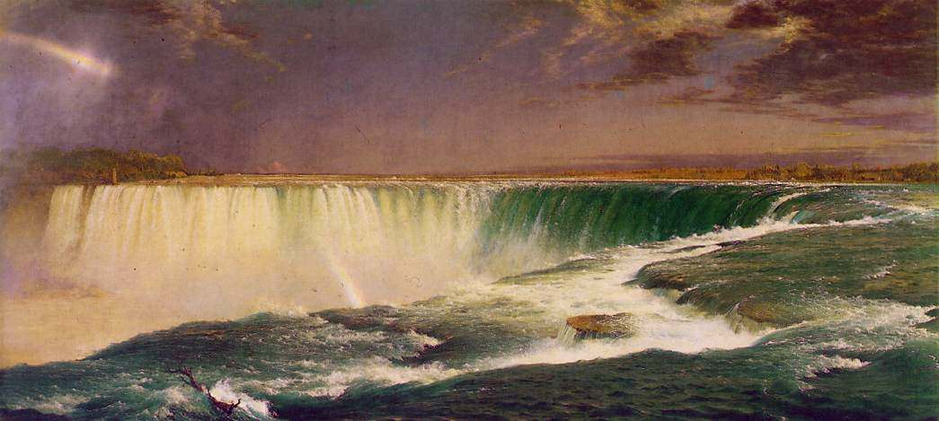 Frederick edwin church niagara oil on canvas for Frederick church paintings